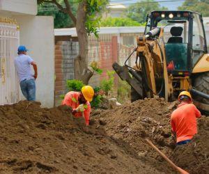Obras en el barrio Santa Lucía.