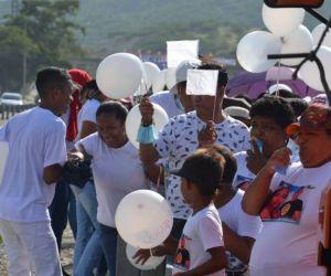 Familiares, allegados y comunidad en general se dieron cita marchando.