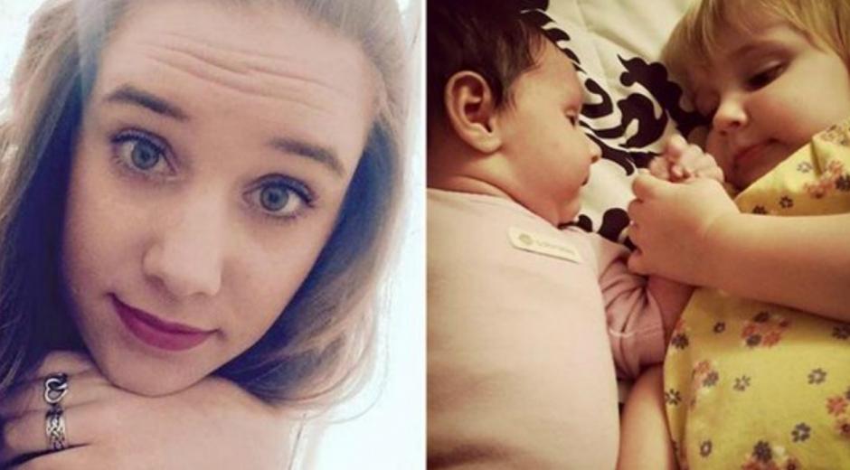 Amanda Hawkins y sus hijas.
