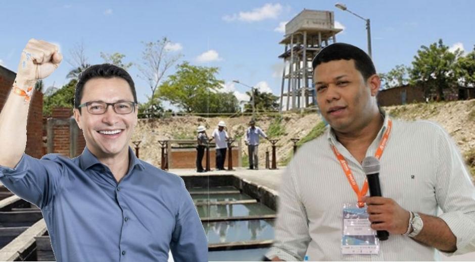 Carlos Caicedo, gobernador electo del Magdalena, y Ricardo Torres, gerente de Aguas del Magdalena