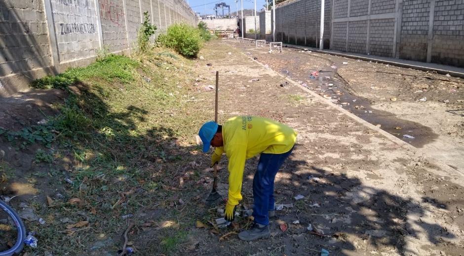 Jornada de limpieza en el sector de El Boro.