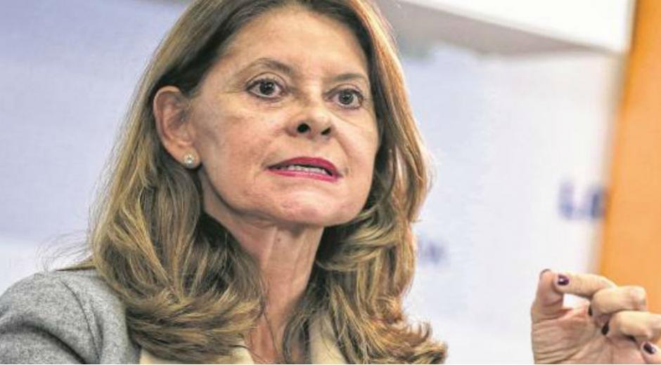 La vicepresidenta de la República, Marta Lucía Ramírez.