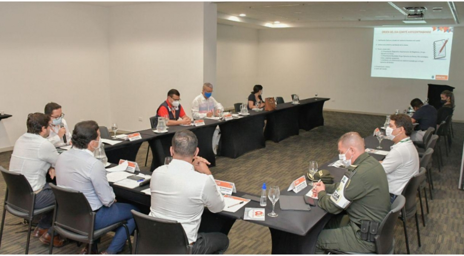 El secretario de Hacienda Departamental, Jorge Agudelo, presidió el comité anticontrabando.