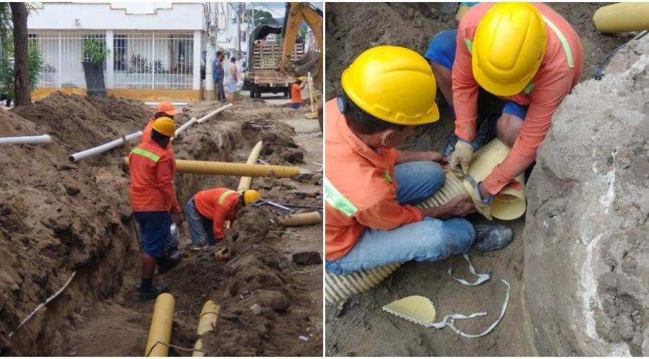Trabajos en el barrio Villa Franca