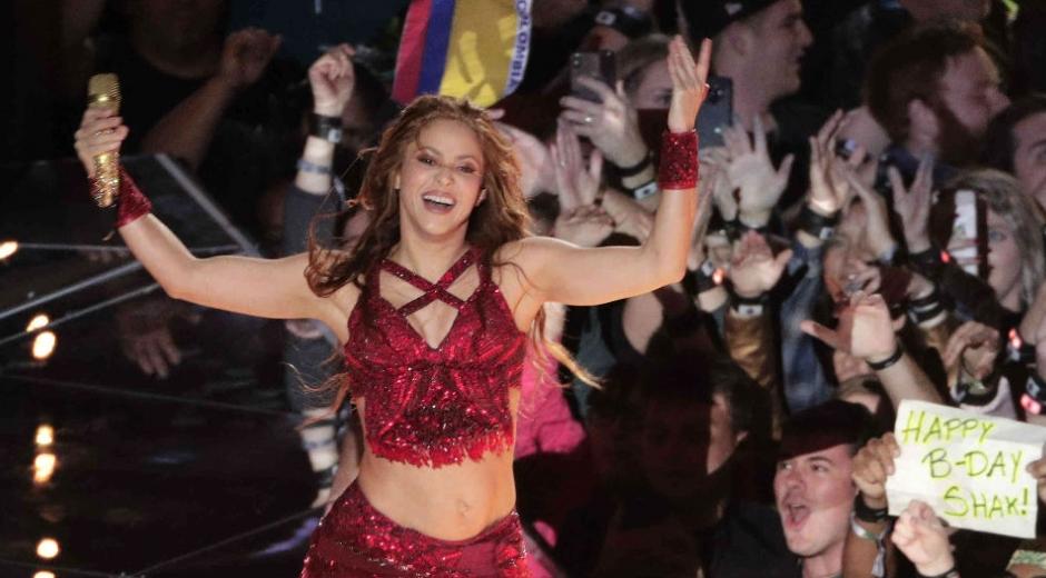 Shakira en el Super Bowl 2020.