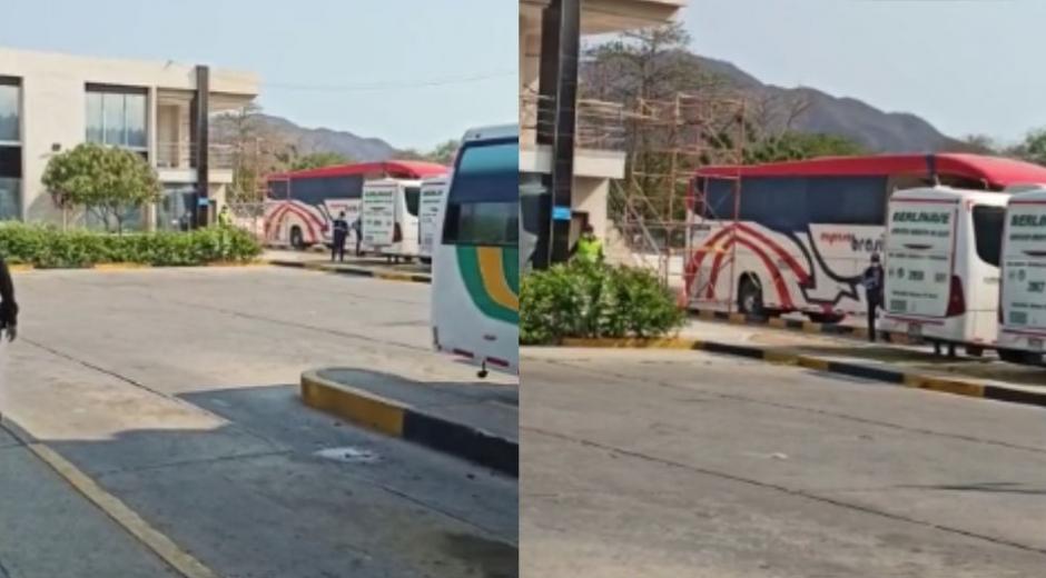 Bus de Brasilia donde llegó la mujer procedente de Bucaramanga.