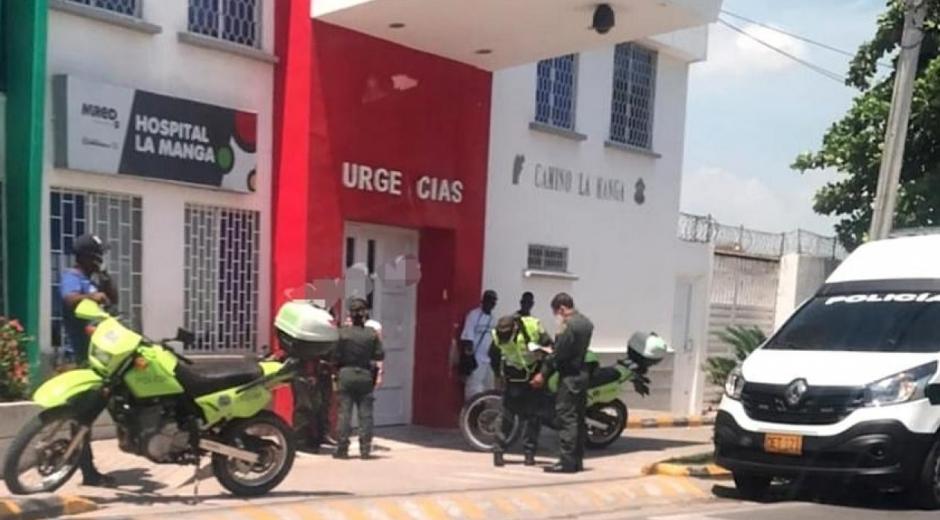 La Policía en el Camino La Manga.