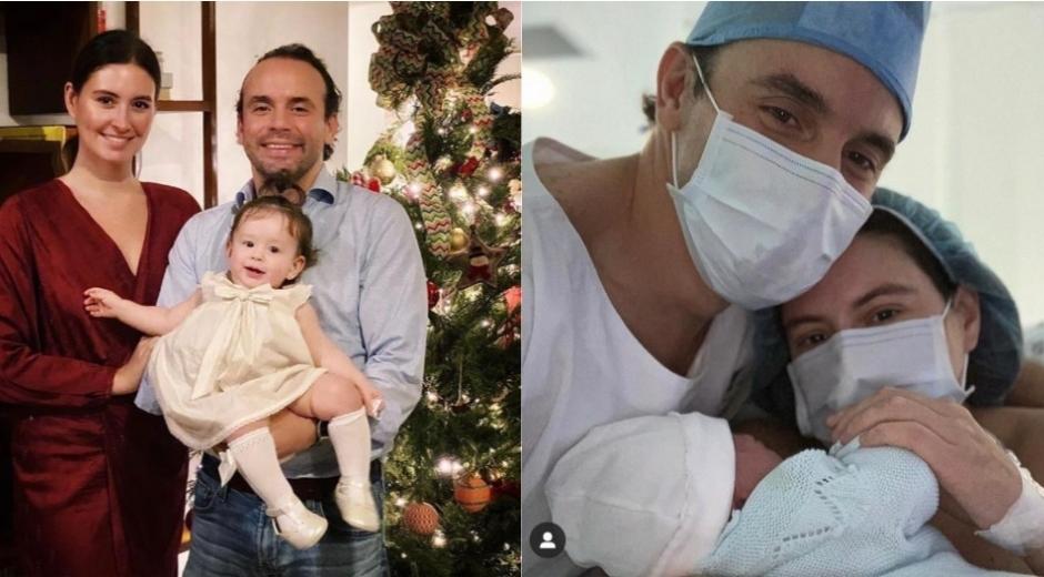 Taliana Vargas Carrillo, Alejandro Eder y sus dos hijos.