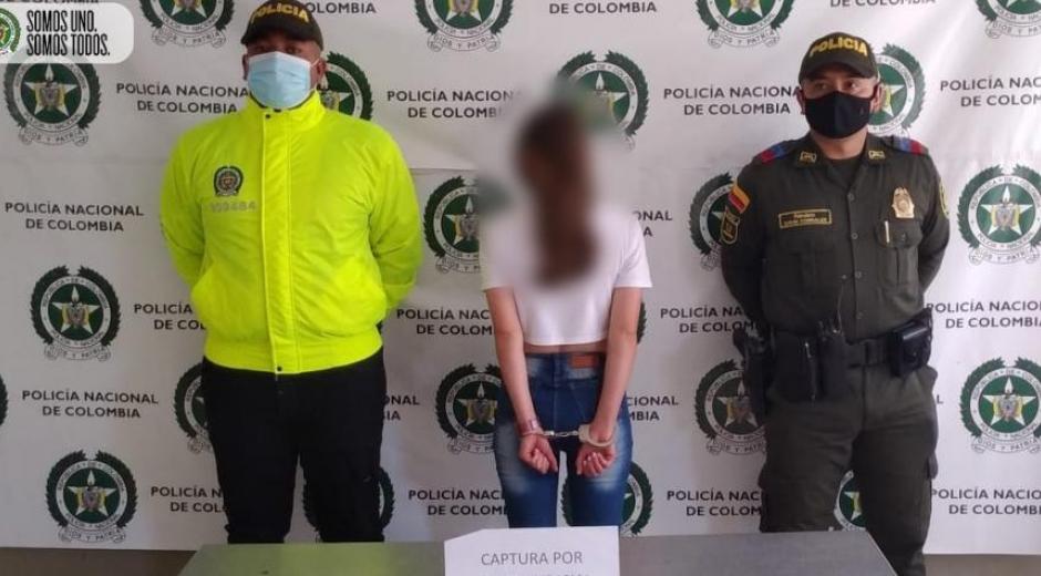 Niñera capturada en el departamento de Antioquia
