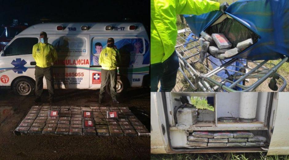 Incautación de droga en una ambulancia,