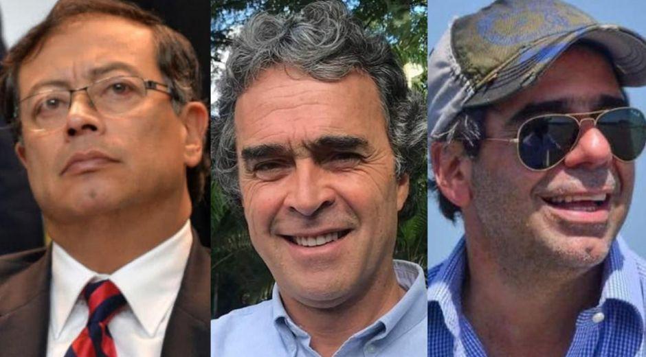 Gustavo Petro, Sergio Fajardo y Alejandro Char.