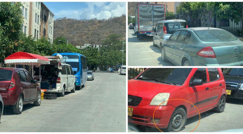 Los carros permanecen abandonados en el sector de Parques de Bolívar.