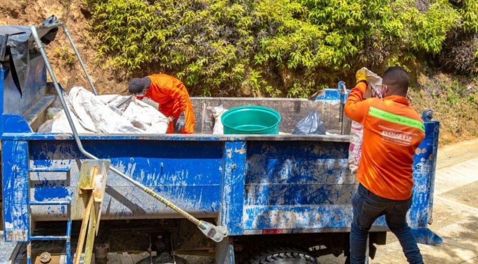Jornada de reciclaje en La Tagua, Minca.