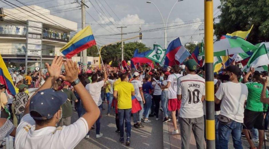 Marchas en Santa Marta.