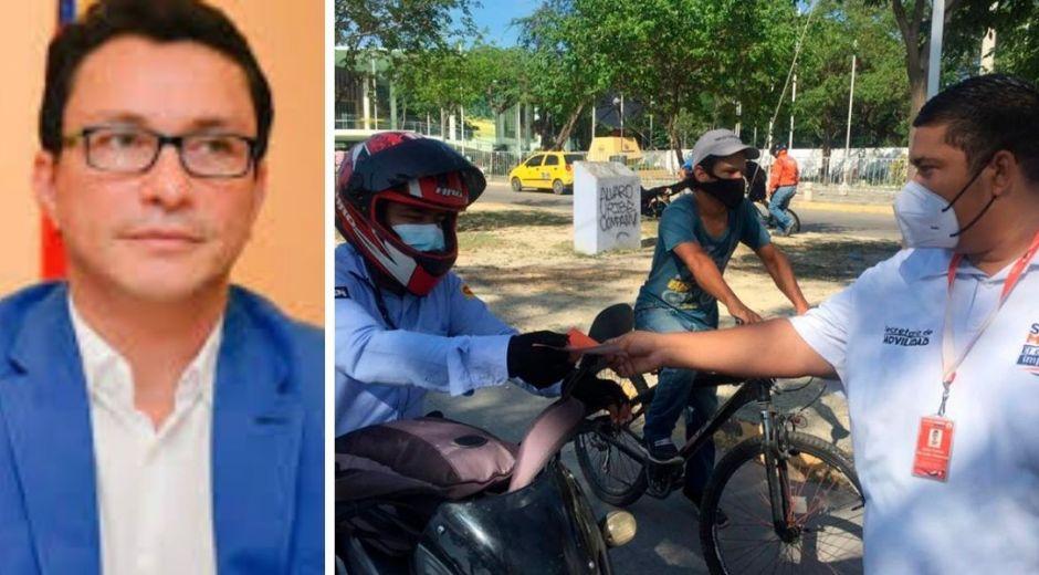 Caicedo denunció una presunta red de corrupción en Movilidad.