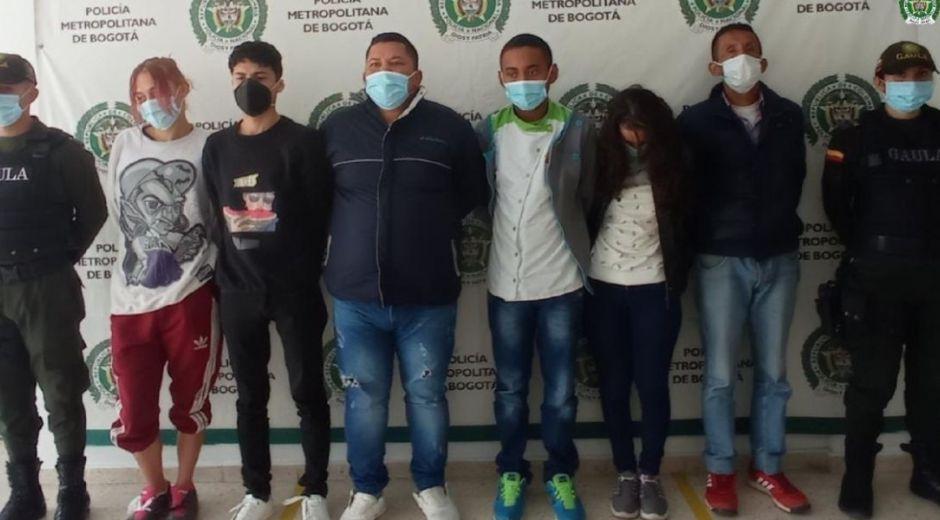 Capturados en Bogotá.