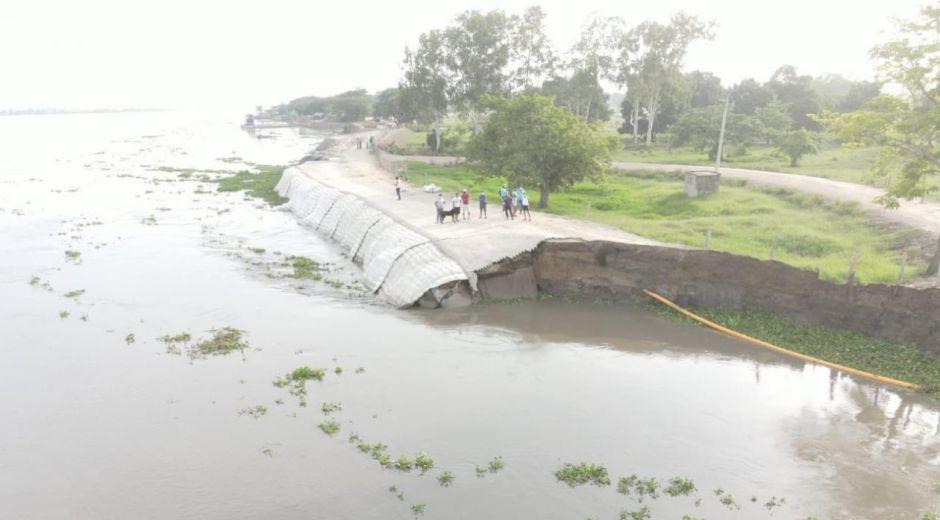 El mandatario precisó que, si hay erosión en río, pero no hay riesgo de desbordamiento.