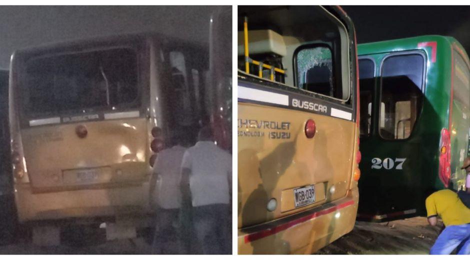 En la noche de este sábado fue el atentado con granada en buses de Barranquilla.