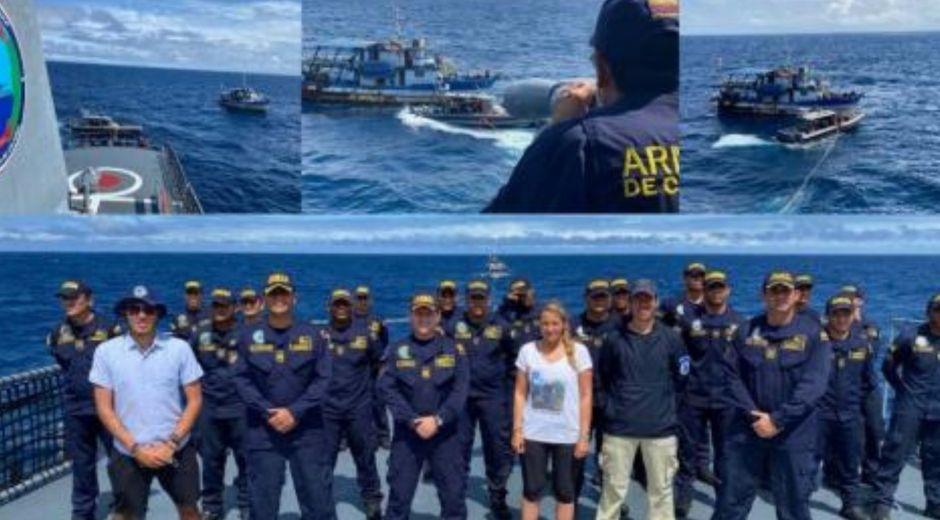 Rescate por parte de la Armada Nacional.