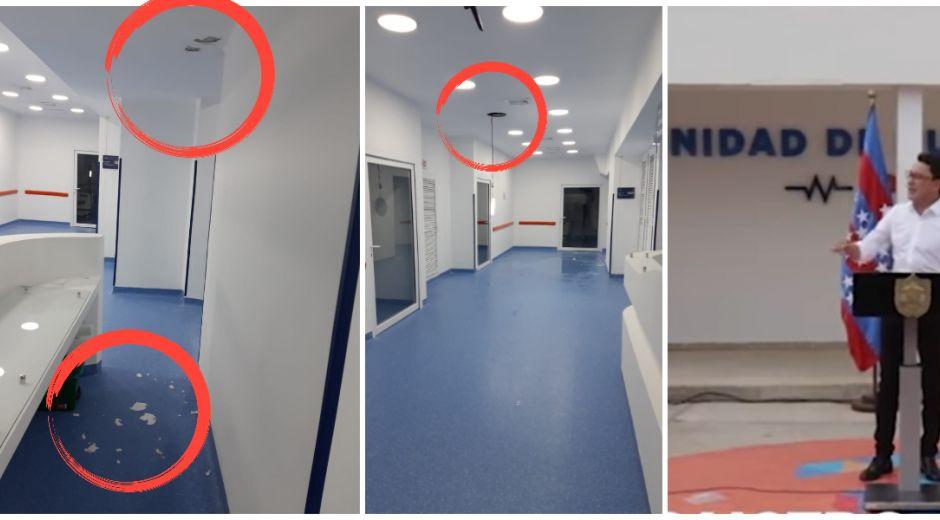 Menos de tres meses después de inaugurada, la Unidad de Cuidado Intermedio ya se está deteriorando.