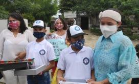 La Polfa logró conectar a 157 niños y niñas de estratos 1 y 2 del país a sus clases virtuales del colegio.