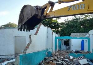 Ya comenzó la demolición de viviendas para ampliación de la calle 30.