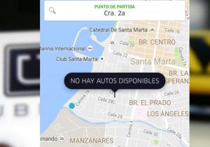 Hace varias semanas, los Uber no están disponibles en Santa Marta.