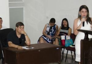 Virna Johnson, gerente del SETP, durante su intervención en el Concejo de Santa Marta.