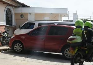 El vehículo quedó estacionado en el hospital de Barranquilla.