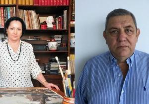 La directora del Museo Bolivariano, Zarita Abello y el gerente del hotel Zuana, Mario Pinilla.