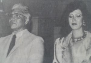 Rodrigo Ahumada Bado, comunicador samario junto a su esposa María Cristina Meléndez.