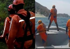Por tierra y mar se adelantan las labores de búsqueda de la avioneta desaparecida.