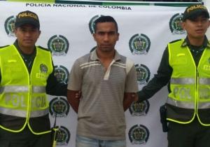 Armando Rafael Rodríguez Villarreal, capturado por la Policía.