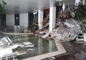 Imagen de un video facilitada por la Guardia Financiera a primera hora de hoy, 19 de enero de 2017, del interior del hotel Rigopiano, alcanzado por una avalancha previsiblemente producida por alguno de los cuatro terremotos de magnitud superior a los 5 grados registrados en el centro de Italia.