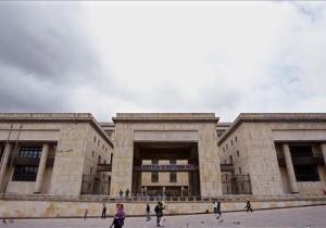 Fachada del Palacio de Justicia en Bogotá.