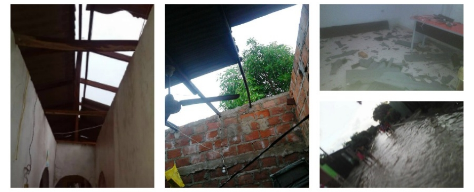 Esta son algunas de las afectaciones que dejó el vendaval de esta tarde, en Salamina.